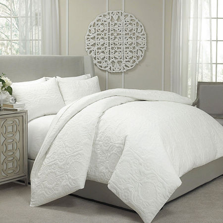 Vue Barcelona 3-pc. Quilted Coverlet/Duvet Set, One Size , White