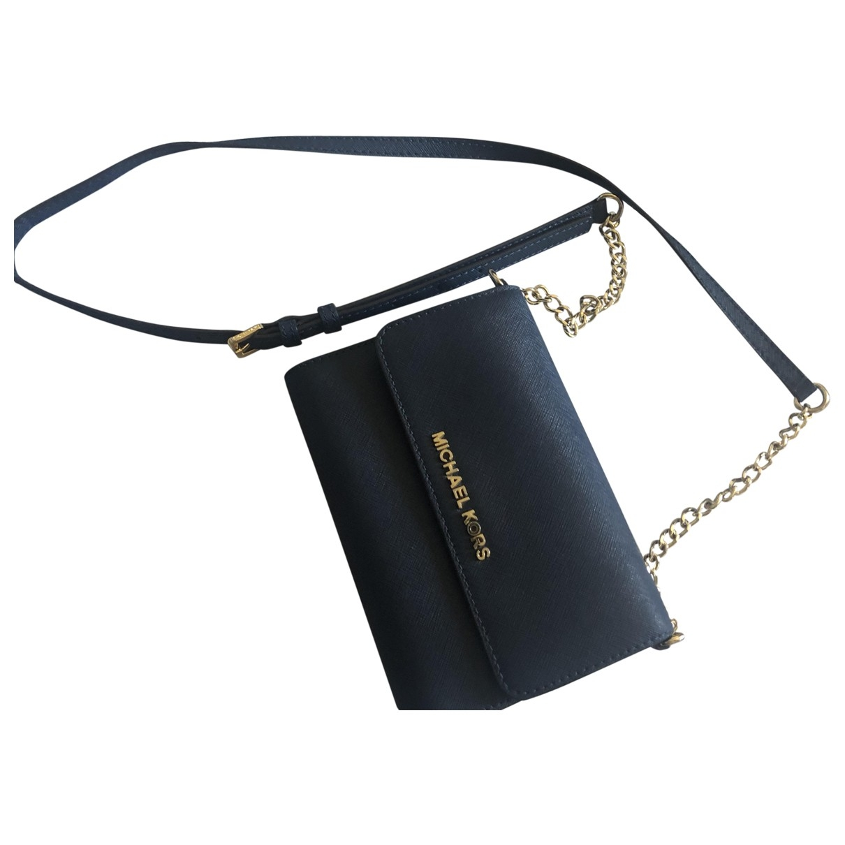 Michael Kors \N Handtasche in  Marine Leder