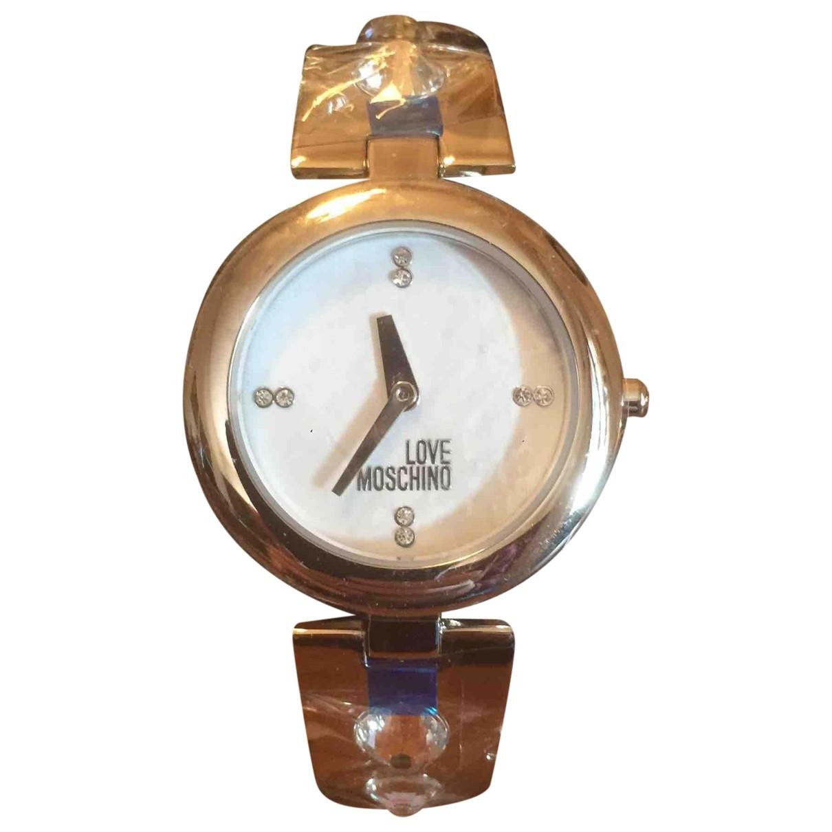 Moschino Love \N Uhr in  Silber Stahl