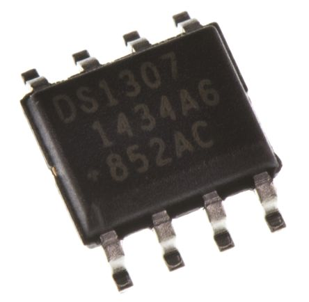 Maxim Integrated DS1307Z+T&R, Real Time Clock (RTC), 56B RAM Serial-I2C, 8-Pin SOIC (2500)
