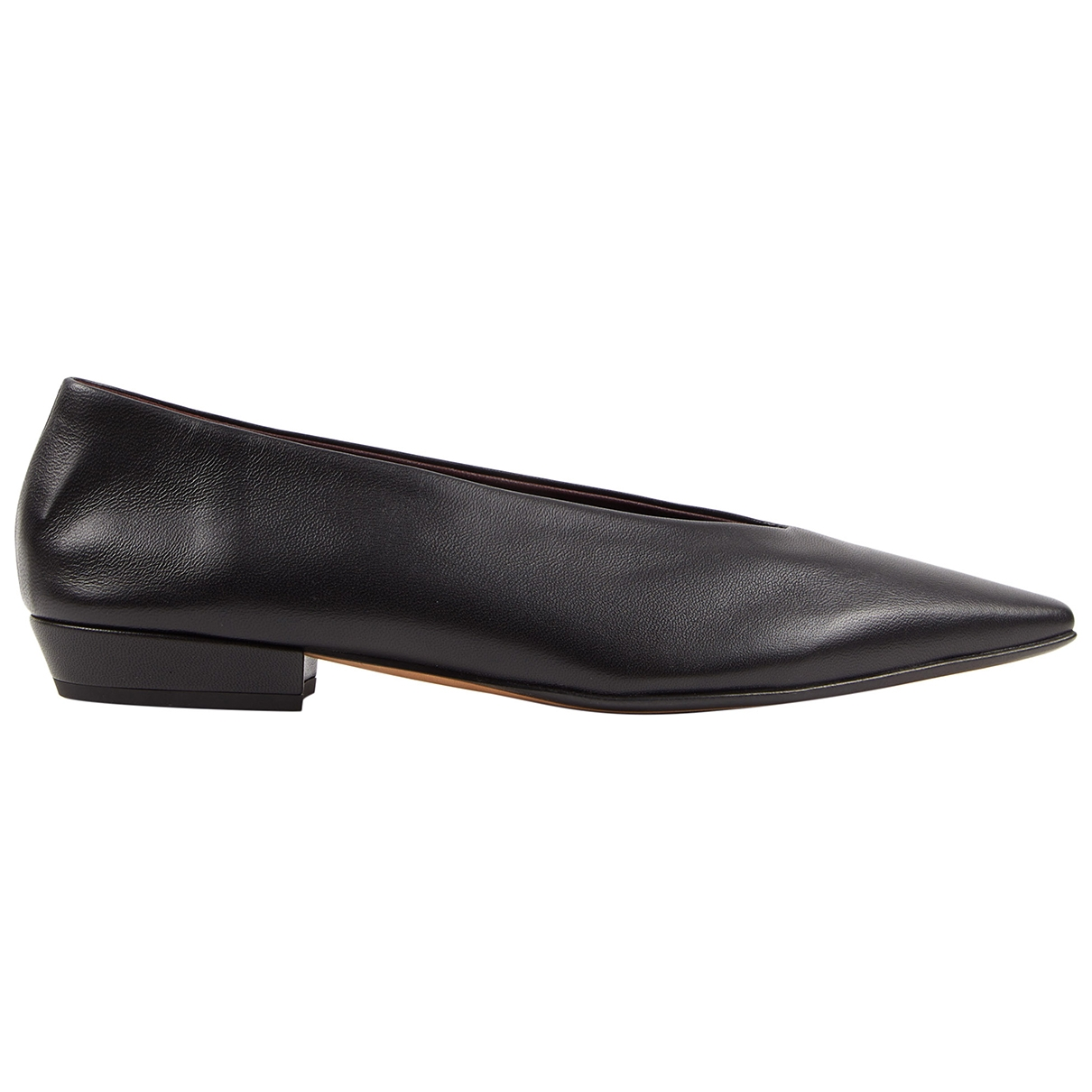 Bottega Veneta \N Black Leather Ballet flats for Women 38 EU