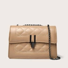 Quilted Flap Shoulder Bag