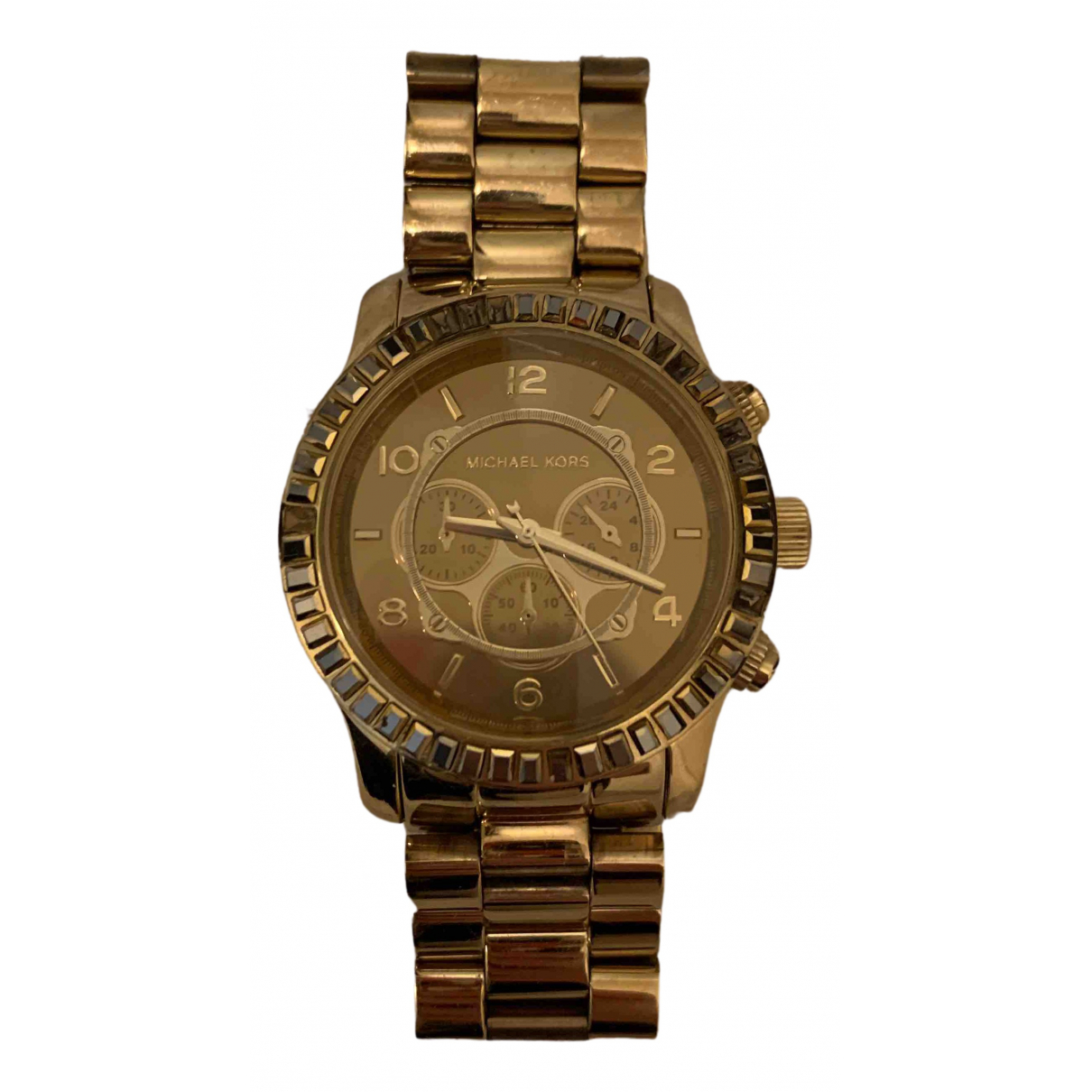 Michael Kors N Gold gold and steel watch for Women N