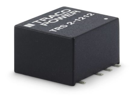 TRACOPOWER TRS 2 2W Isolated DC-DC Converter Surface Mount, Voltage in 4.5 → 13.2 V dc, Voltage out 15V dc