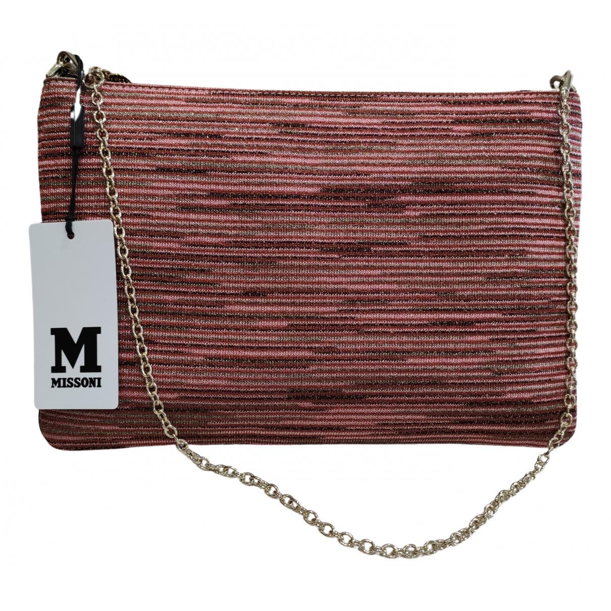 M Missoni N Pink Tweed Clutch bag for Women N
