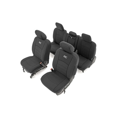 Rough Country Neoprene Seat Covers - Front & Rear (Black) - 91029