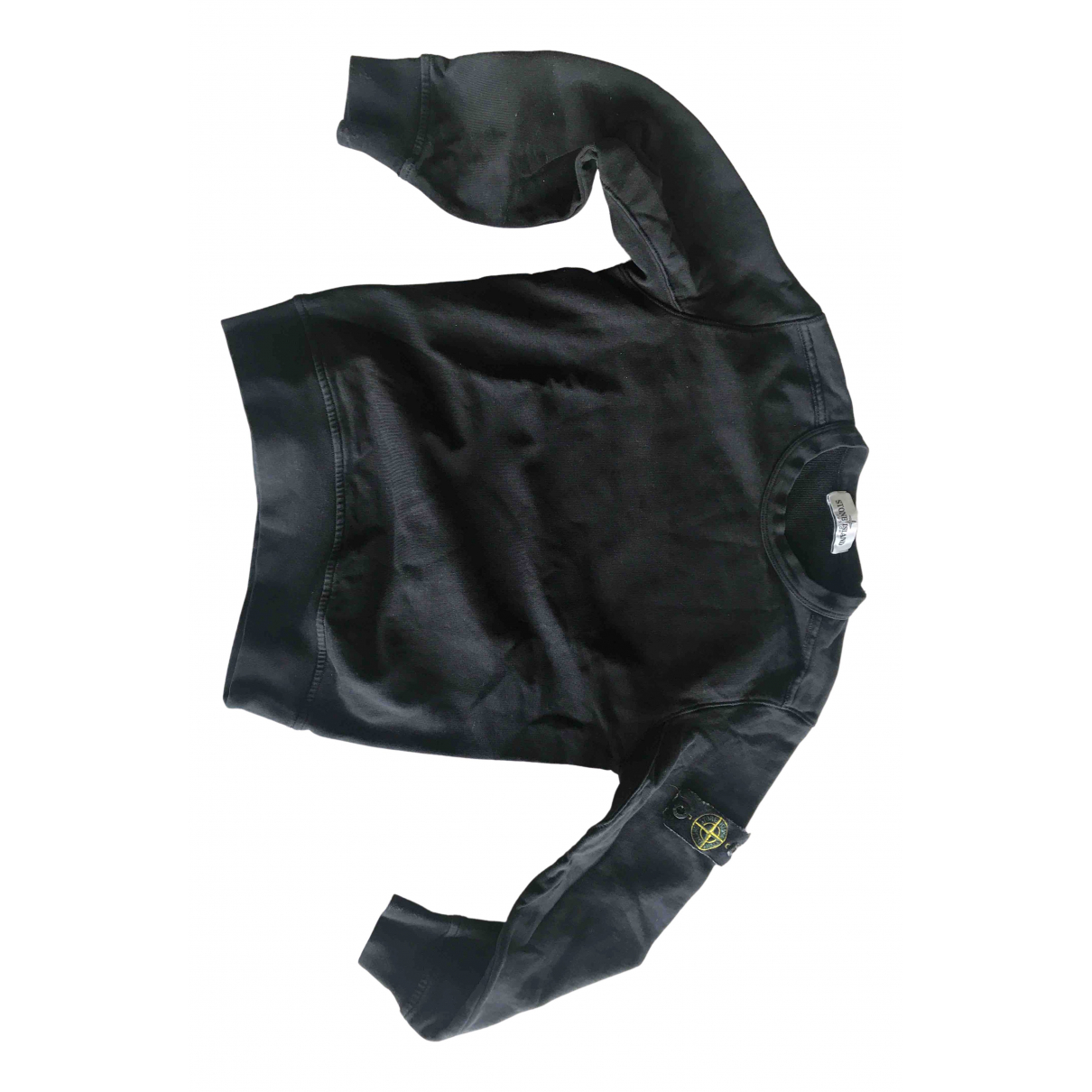 Stone Island - Pull   pour enfant en coton - noir