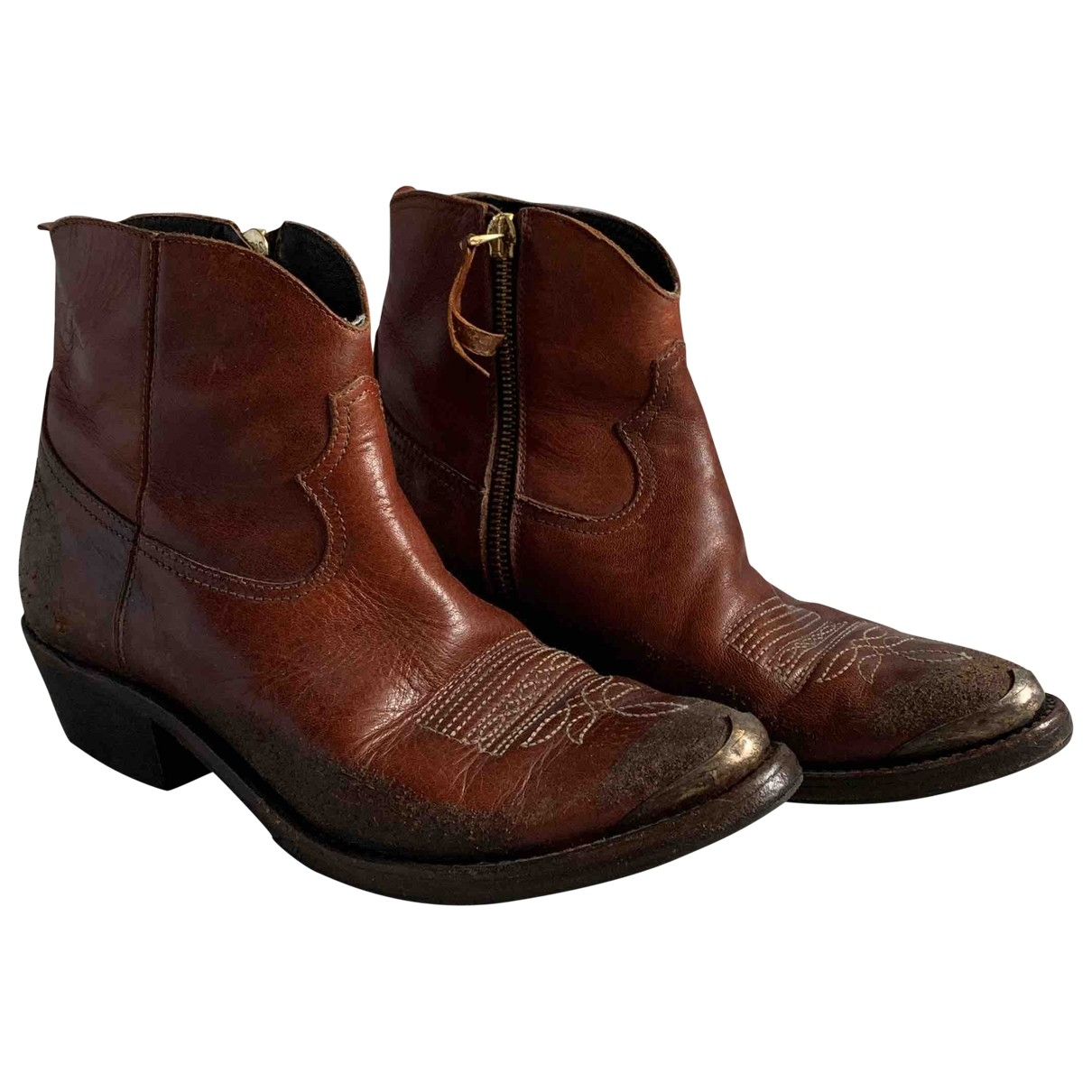 Golden Goose \N Brown Leather Ankle boots for Women 37 EU
