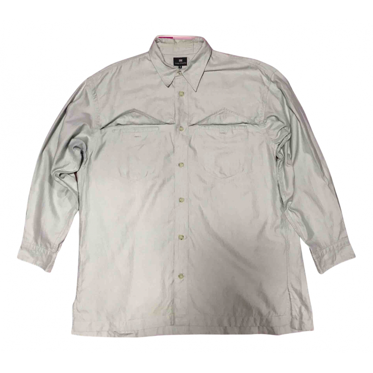 Issey Miyake - Polos   pour homme en coton - vert