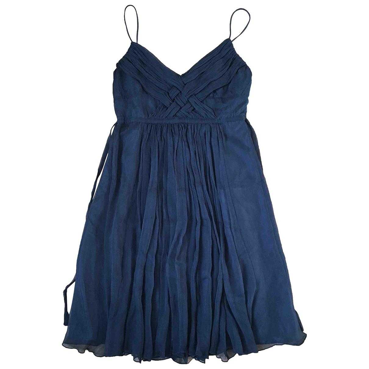 Zara - Robe   pour femme en soie - noir