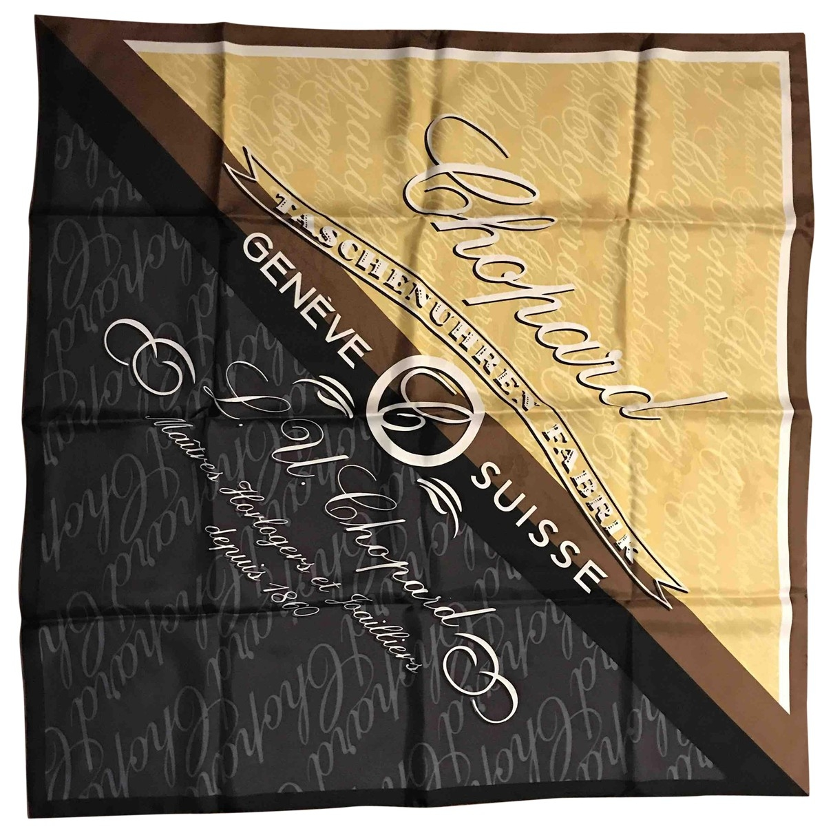 Chopard \N Brown Silk Silk handkerchief for Women \N