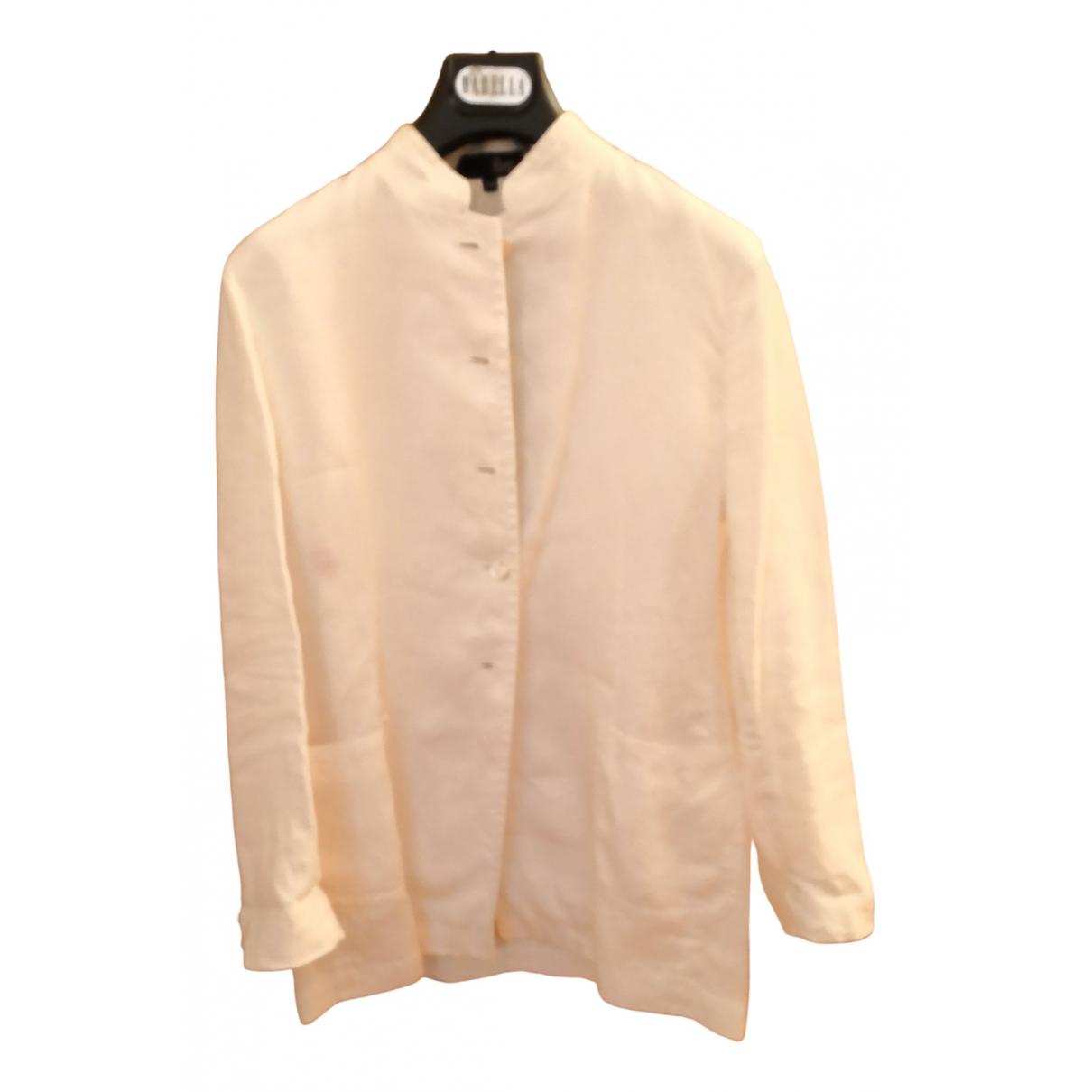 - Veste   pour femme en lin - blanc