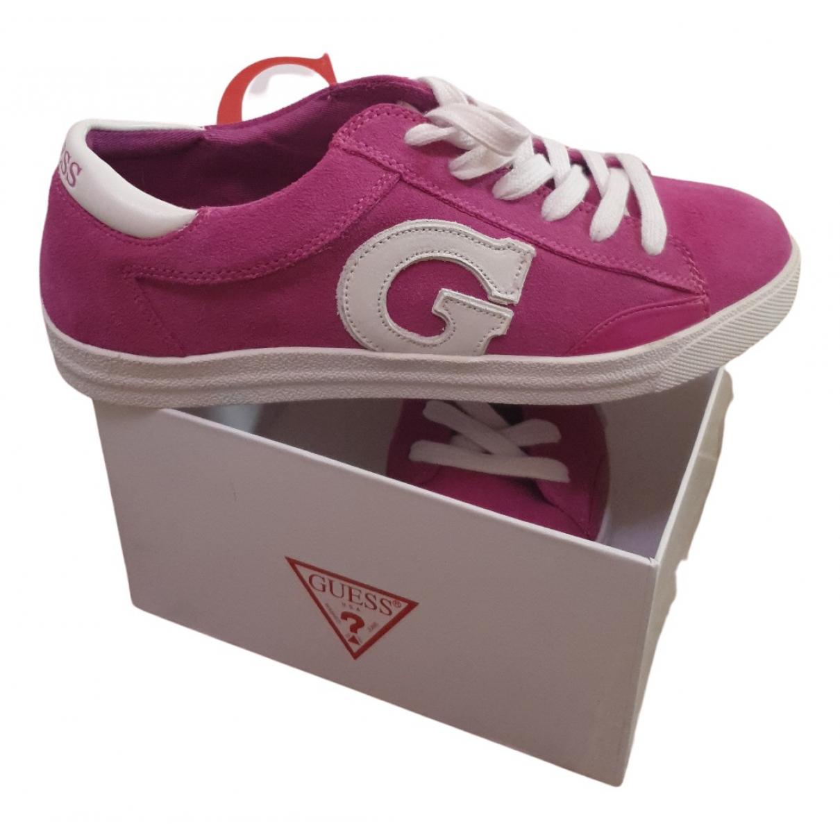 Guess \N Sneakers in  Rosa Samt