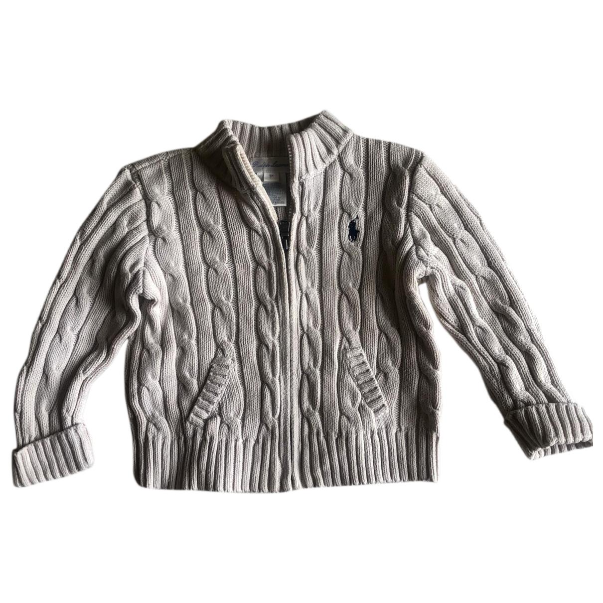 Polo Ralph Lauren \N Ecru Cotton Knitwear for Kids 9 months - until 28 inches UK