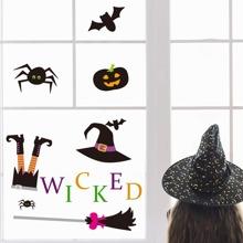 Halloween Cartoon Graphic Wall Sticker