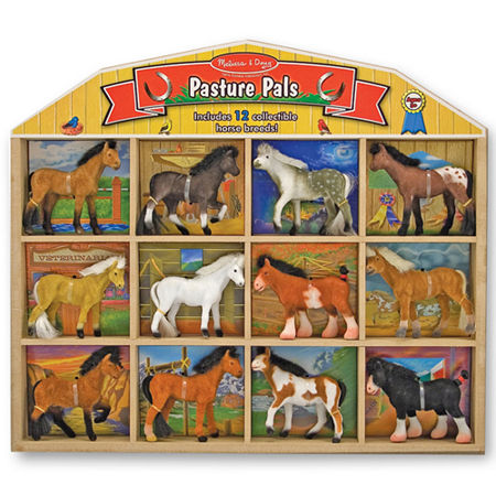Melissa & Doug Pasture Pals Toy Horses, One Size , Multiple Colors