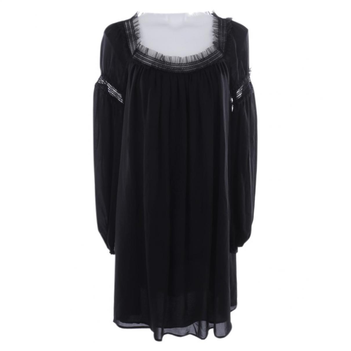 Plein Sud - Robe   pour femme en soie - noir