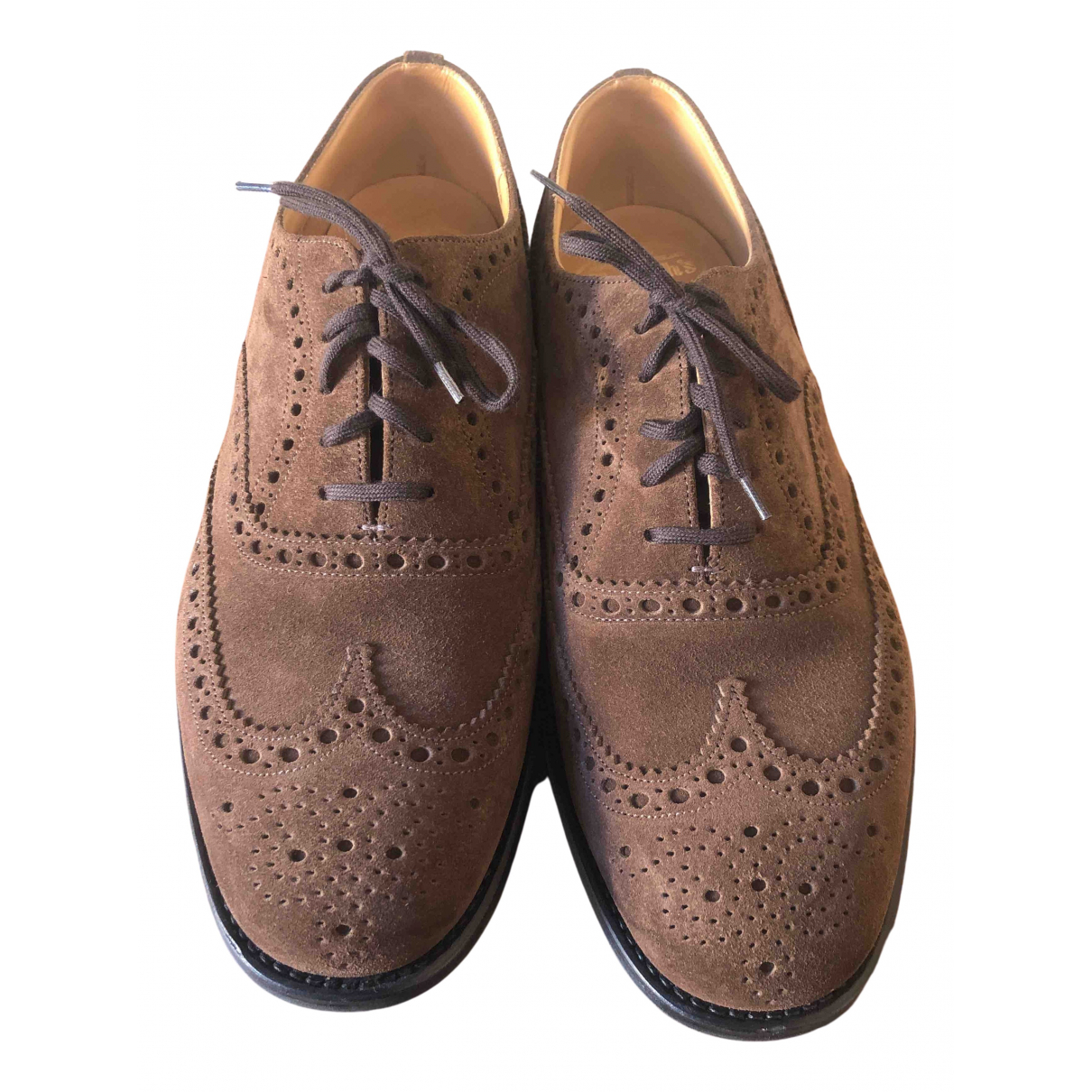Church's N Brown Suede Lace ups for Men 43 EU