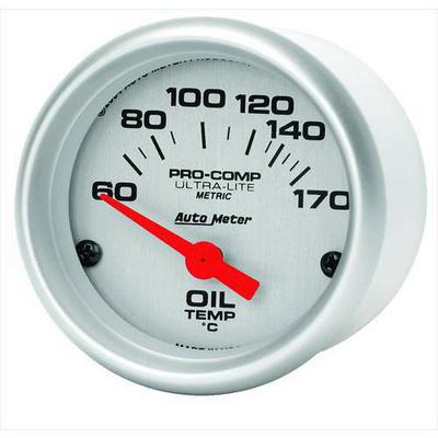 Auto Meter Ultra-Lite Electric Metric Unit (Celsius) Oil Temperature Gauge - 4348-M