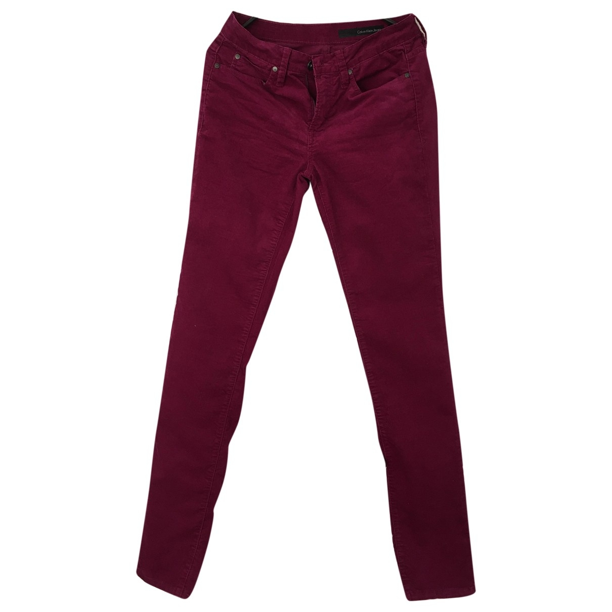 Calvin Klein - Pantalon   pour femme en coton - bordeaux