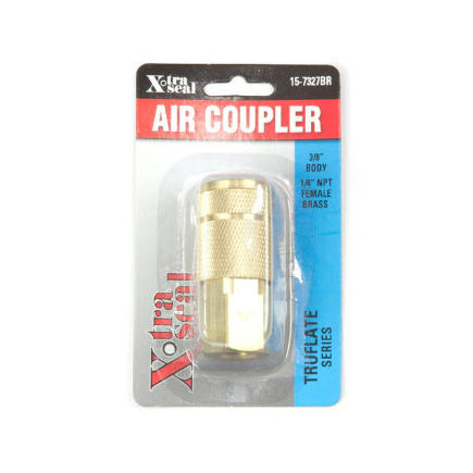 Group 31 Xtra Seal 15-7327BR - 3/8 Automotive Coupler, 1/4 Fpt, Brass
