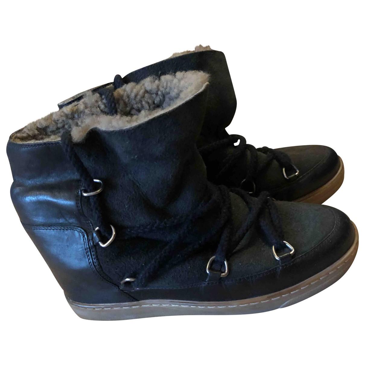 Isabel Marant \N Black Tweed Ankle boots for Women 39 EU