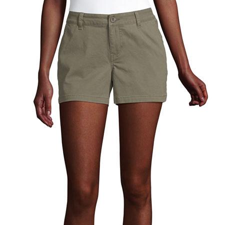 a.n.a Womens 3.5'' Chino Short, 4 , Green
