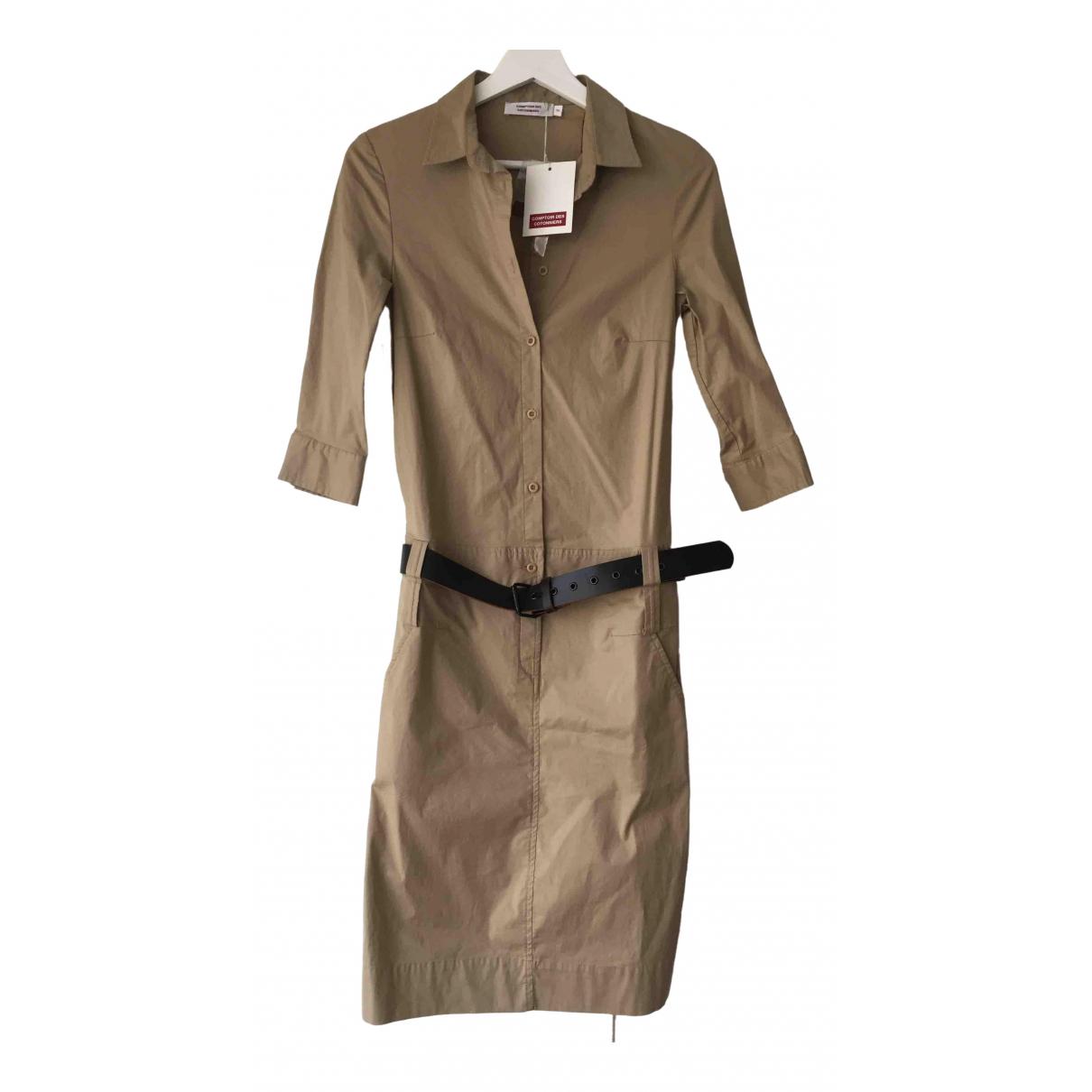 Comptoir Des Cotonniers \N Kleid in  Beige Baumwolle