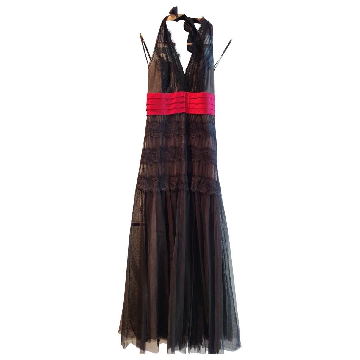 Bcbg Max Azria \N Kleid in  Schwarz Spitze