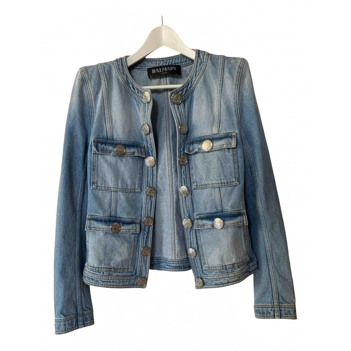 Balmain \N Blue Denim - Jeans jacket for Women 42 FR