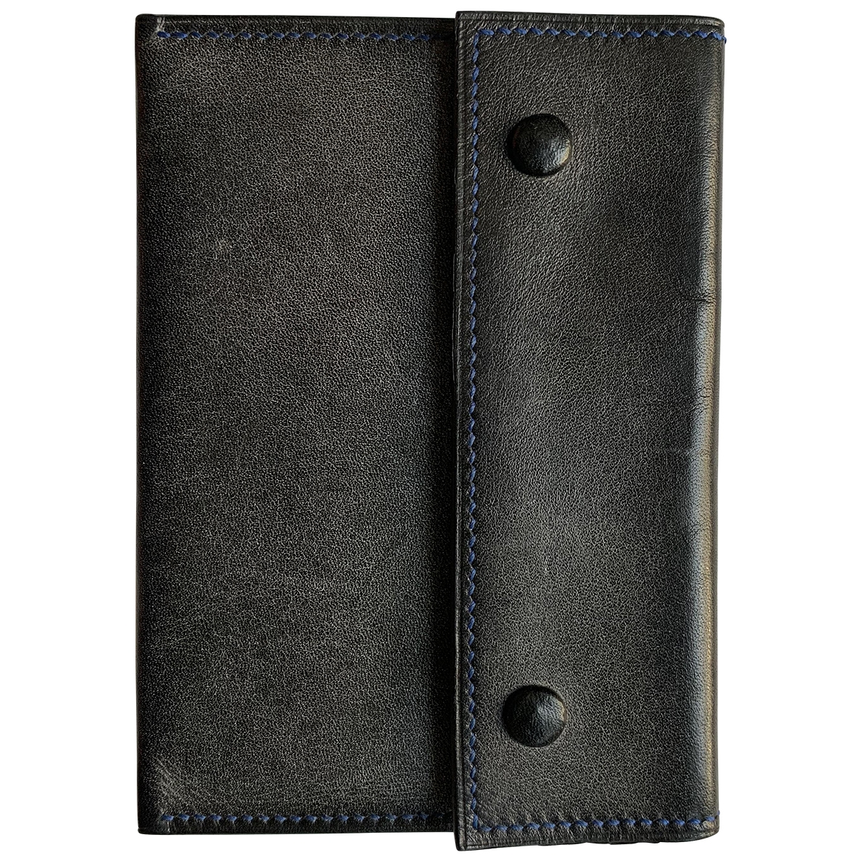 La Contrie \N Portemonnaie in  Schwarz Leder