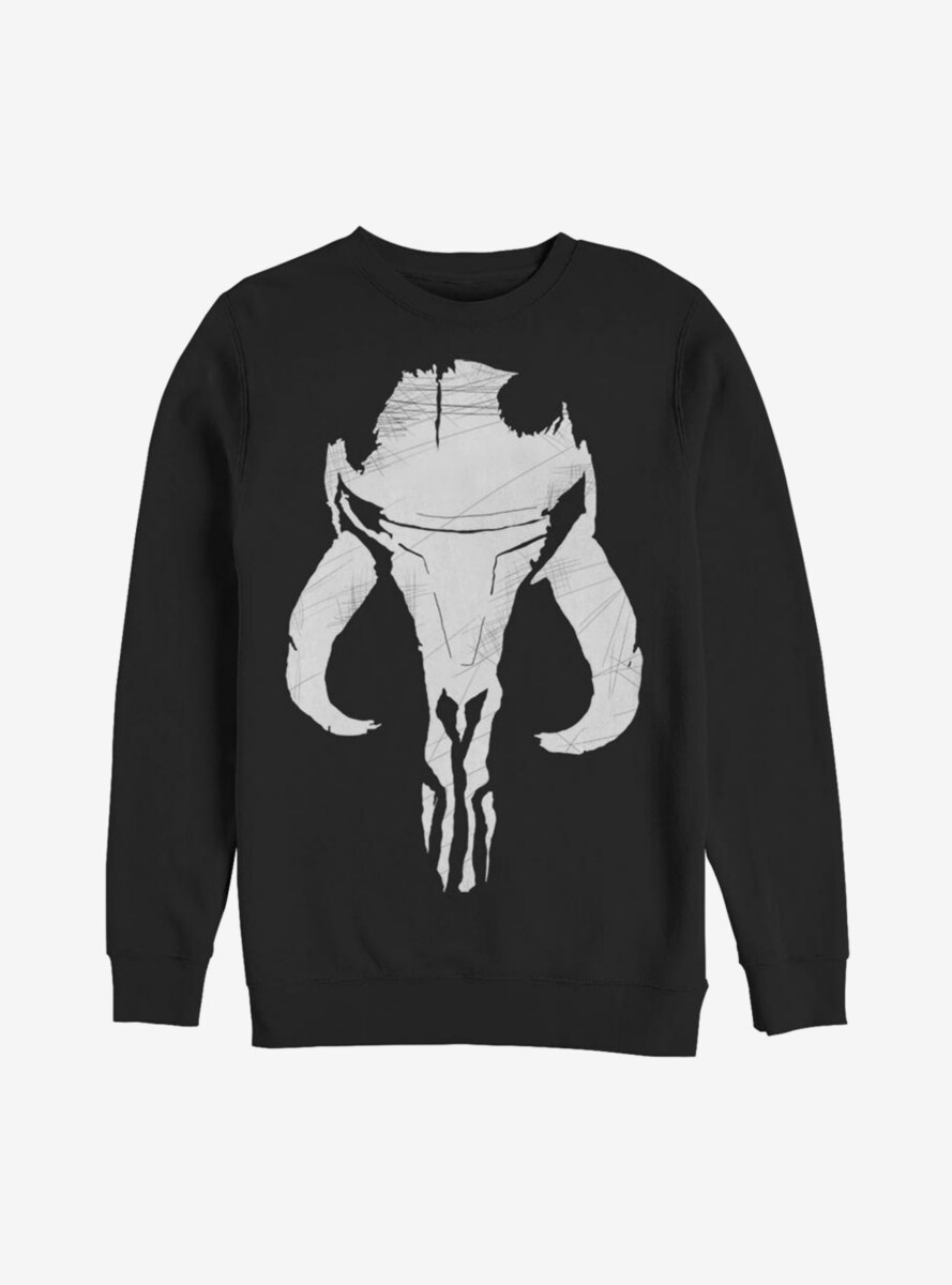 Star Wars The Mandalorian Bounty Hunter Mandalorian Mixed Symbol Sweatshirt