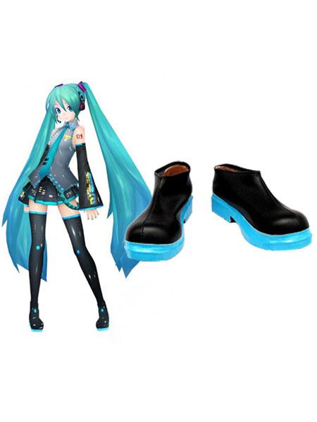 Milanoo Halloween Zapatos de Hatsune Miku para cosplay de VOCALOID
