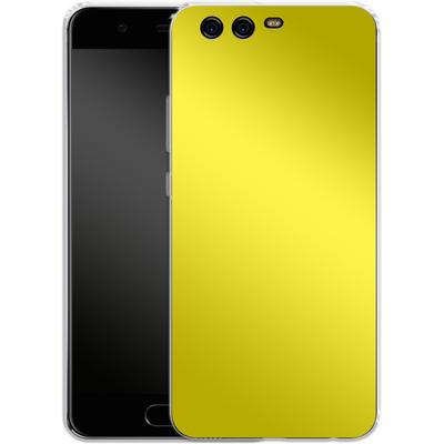 Huawei P10 Silikon Handyhuelle - Test Yellow von caseable Designs