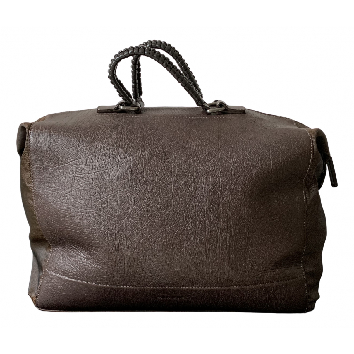 Giorgio Armani N Brown Leather bag for Men N