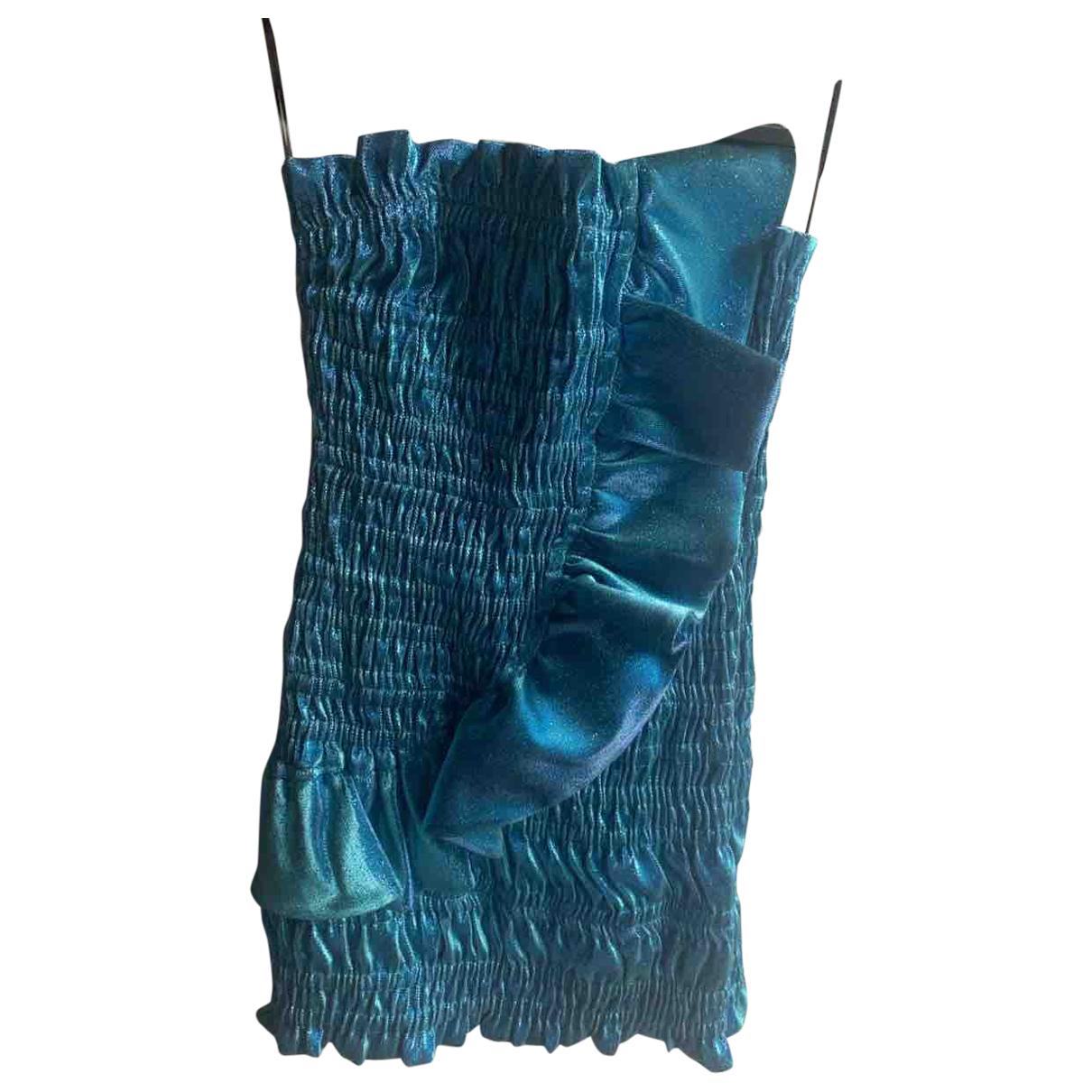 Area - Robe   pour femme en coton - bleu