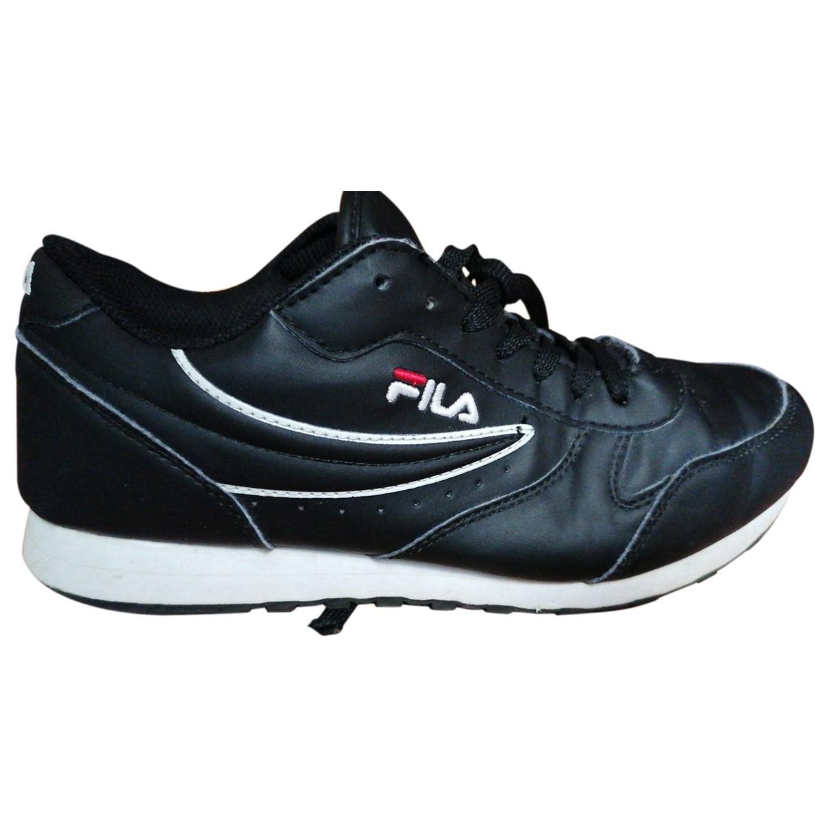 Fila \N Black Leather Trainers for Women 40 EU