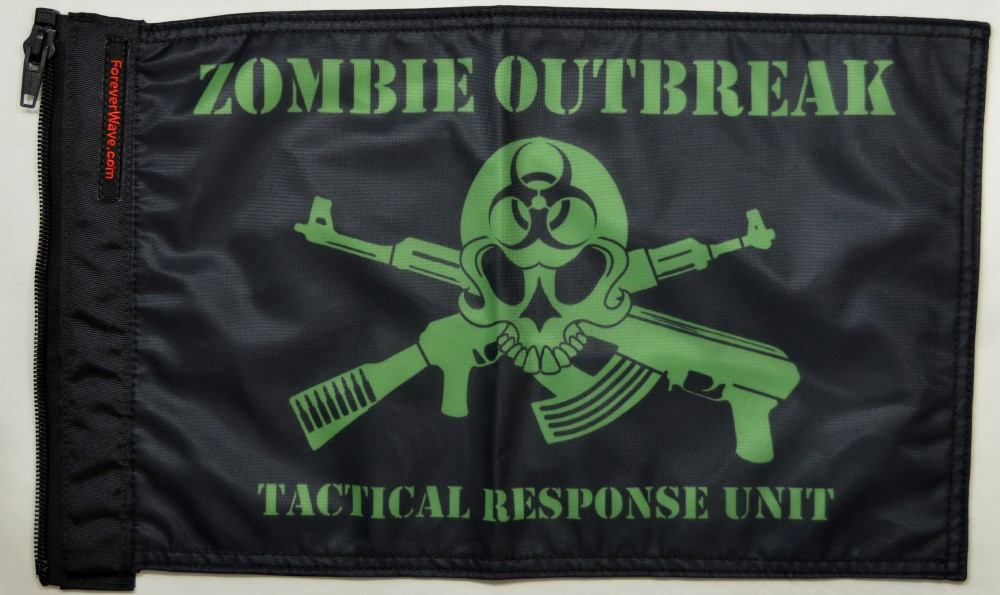 Forever Wave 5203 Zombie Outbreak Tactical Response Unit Flag