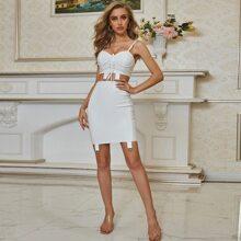Outfit de dos piezas Cremallera Liso Glamour