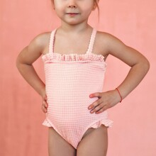 Toddler Girls Textured Frill One Piece Swimsuit