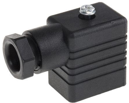 Hirschmann , GMN Series 2P+E DIN 43650 B, Female Solenoid Valve Connector, 250 V ac/dc Voltage, Black