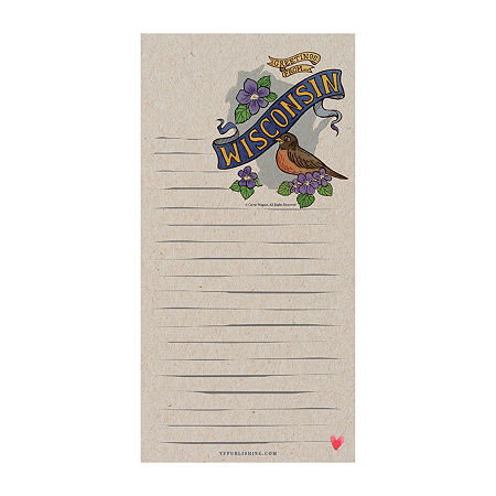 Tf Publishing Wisconsin Magnetic Memo Pad, One Size , Multiple Colors