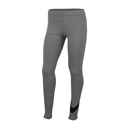 Nike Big Girls Legging, Large , Gray