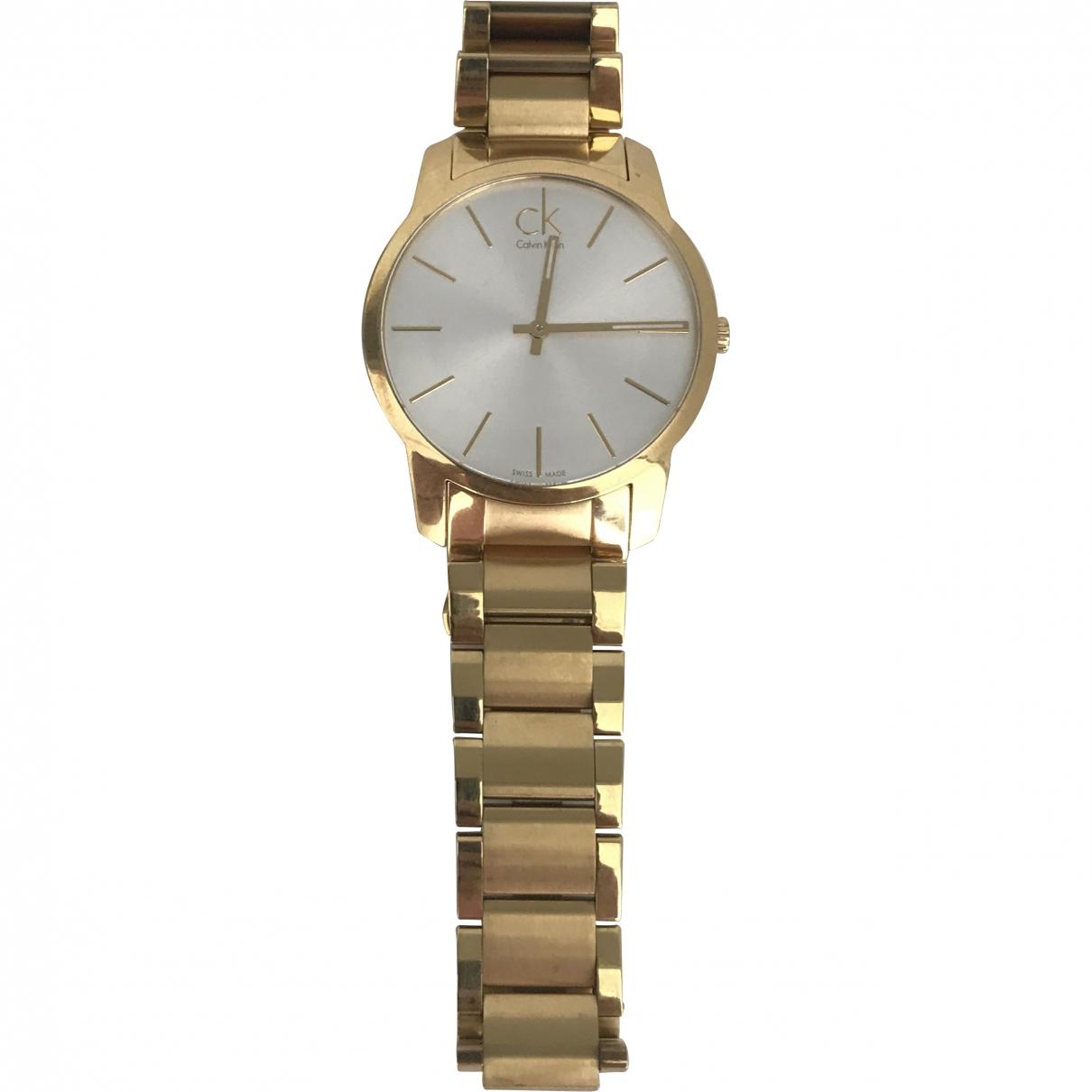 Calvin Klein \N Gold Steel watch for Men \N