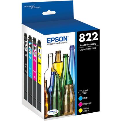 Epson WorkForce Pro WF-3820 Epson T822 T822120-BCS Ink Cartridge Combo BK/C/M/Y