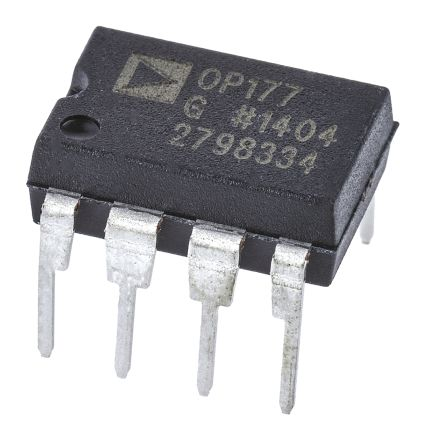 Analog Devices OP177GPZ , Precision, Op Amp, 600kHz, 8-Pin PDIP