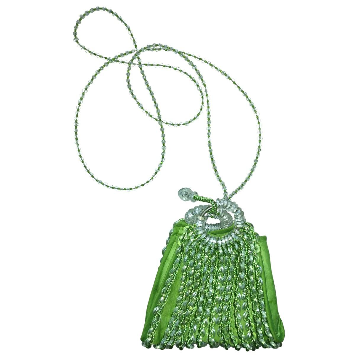 Giorgio Armani \N Green Silk handbag for Women \N
