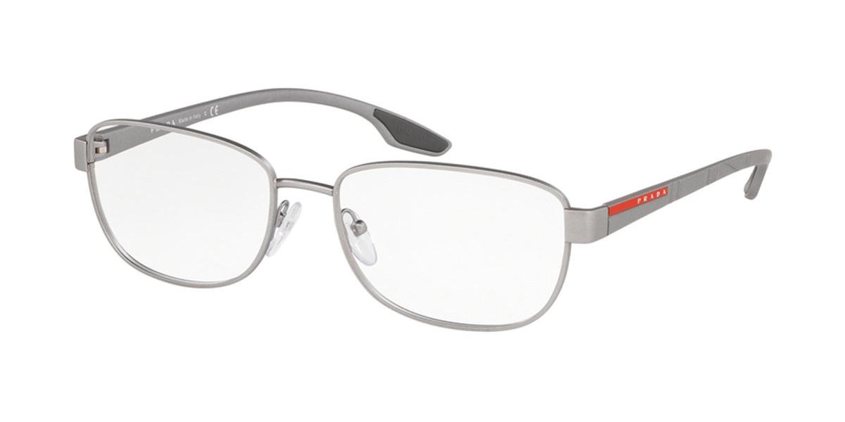 Prada Linea Rossa PS52LV 4491O1 Men's Glasses Grey Size 54 - Free Lenses - HSA/FSA Insurance - Blue Light Block Available