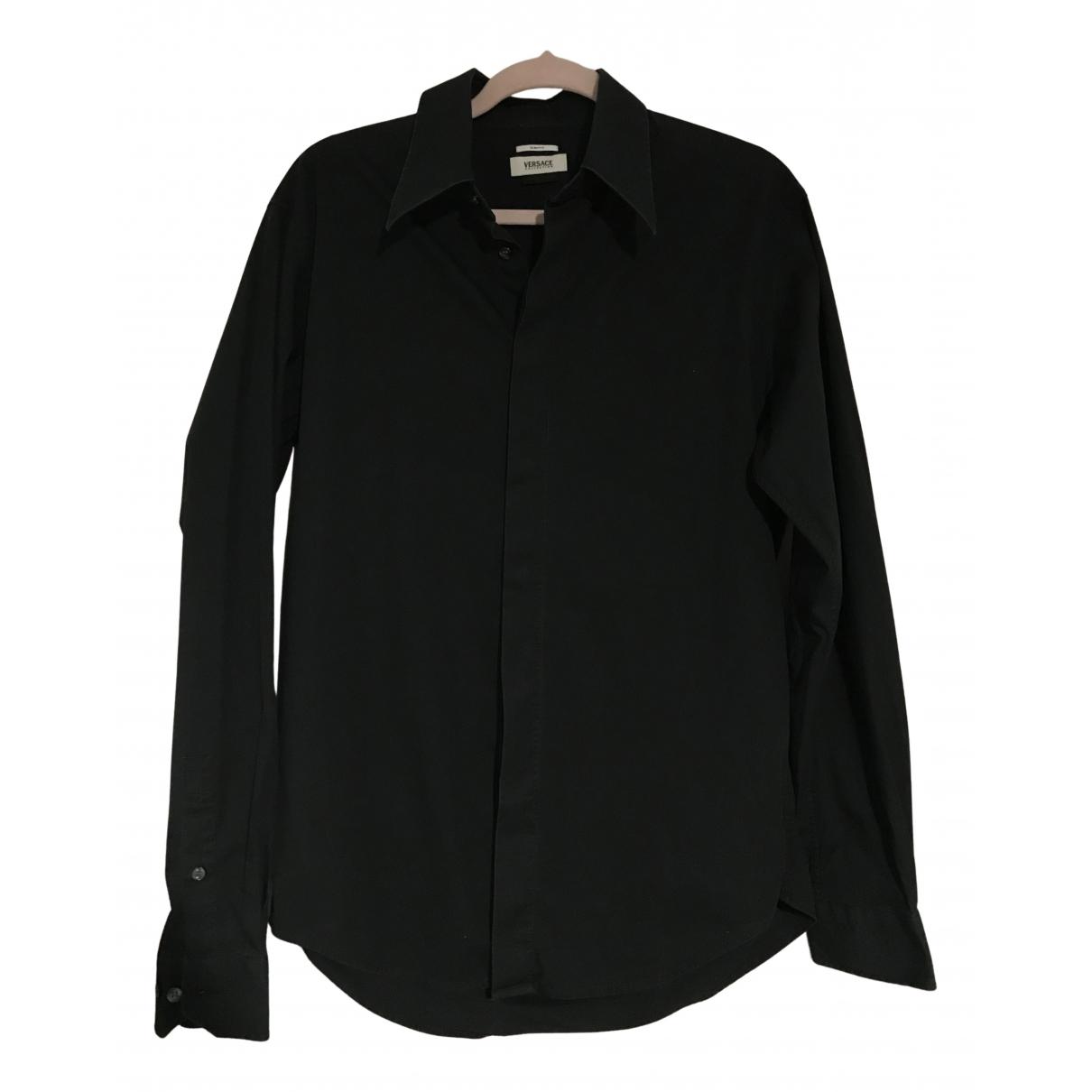 Versace N Black Cotton Shirts for Men M International
