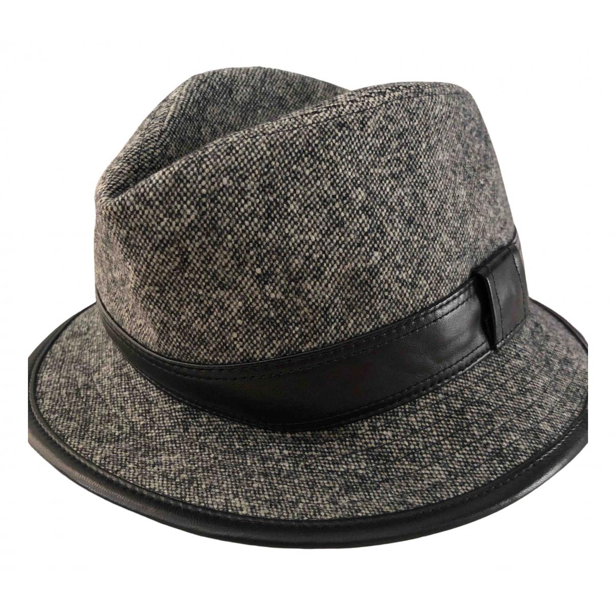 Hermes - Chapeau   pour femme en cachemire - gris